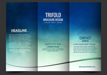 Free Vector Tri Fold Brochure - Free vector #405185