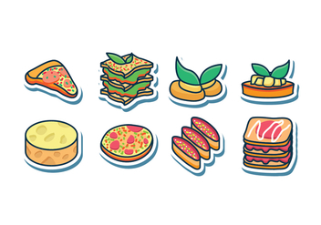 Free Italian Food Icon Set - vector gratuit #405385