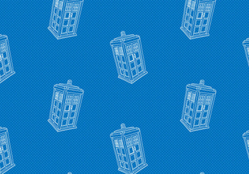 Free Tardis Seamless Pattern Vector Illustration - Kostenloses vector #405405