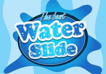 Water slide font logo illustration - vector gratuit #405465