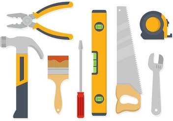 Free Hand Working Tools Vector - бесплатный vector #405595
