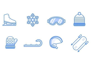 Free Winter Sport Icons Vector - vector gratuit #405605