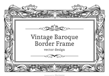 Free Vector Baroque Border Frame - Free vector #405695