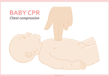 Free Baby CPR Vector Illustration - vector gratuit #405705