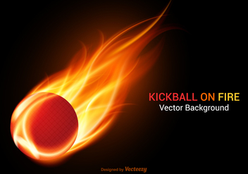 Free Kickball On Fire Vector Background - vector gratuit #405715