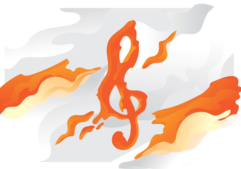 Orange Lava Violin Key - Free vector #405755