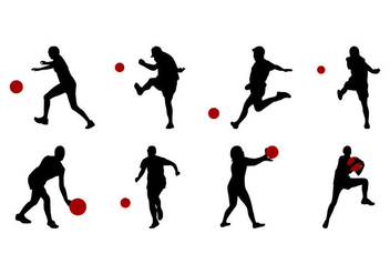 Free Kickball Silhouettes Vector - Free vector #405805