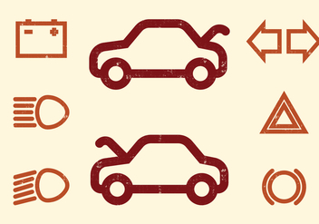Car Dashboard vector Icons - vector #405855 gratis