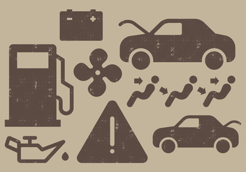 Car Dashboard Icons - бесплатный vector #405865