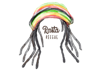Free Dreads Hat Watercolor Vector - бесплатный vector #405955