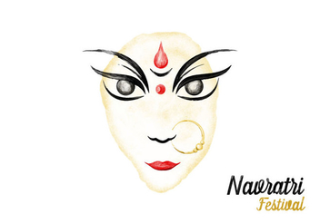 Free Navratri Watercolor Vector - бесплатный vector #405965