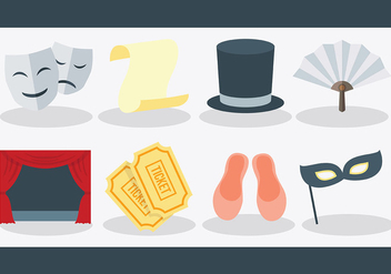 Free Teatro Icons Vector - Free vector #405995