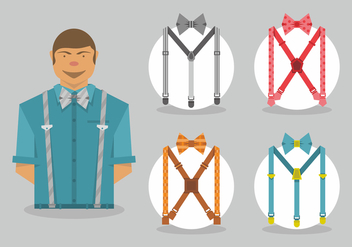 Suspenders Vector Art - Free vector #406175