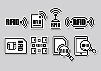 RFID Icons - Kostenloses vector #406295