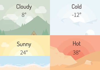 Weather Vector Illustration - бесплатный vector #406305