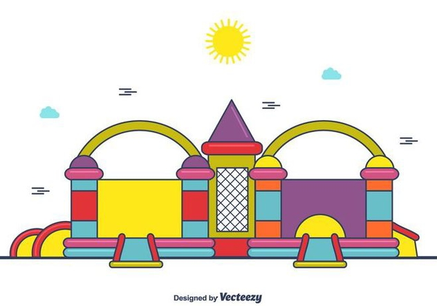 Cute Bounce House Vector - Kostenloses vector #406375