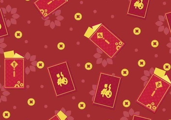 Red Chineese New Year Packet Design - Free vector #406395
