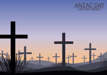 Anzac Grave Celebration Background - vector gratuit #406405