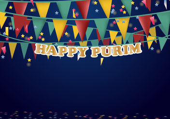 Purim Party Poster Musical Party Banner - Free vector #406465
