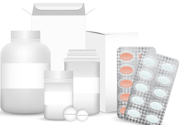Vector Blank Set of Plastic Packaging Pill Box - vector #406475 gratis