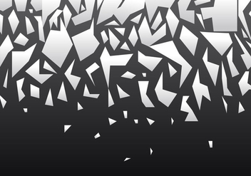 Vector Broken Glass Effect In Black Gradient - vector gratuit #406495