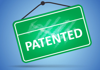 Sign Of Patented In Green Board - vector gratuit #406545