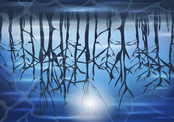 Swamp At Night Background - Free vector #406575