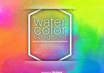 Abstract Watercolored Background - Vector Template - Free vector #406615