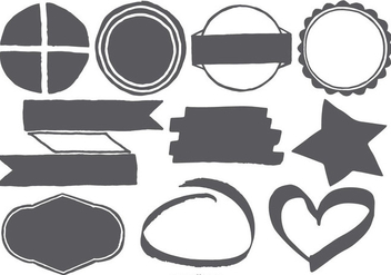 Hand Drawn Vector Shapes - vector gratuit #406645