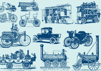 Vintage Motor Vehicles - vector gratuit #406745