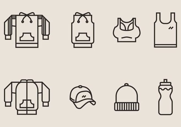 Tracksuit and Exercise Clothes Icon - vector #406805 gratis