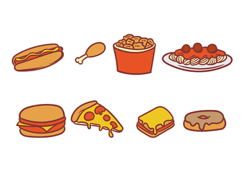 Food Icon Vector Pack - Free vector #406895