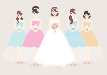 Bridesmaid Vector - vector #406945 gratis