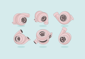 Turbocharger Simple Vector - Free vector #406955