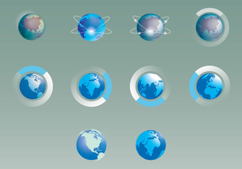 World Map Infographic Icon Set - vector #407005 gratis