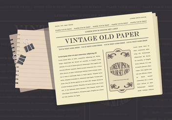 Old Newspaper Illustration - vector #407025 gratis