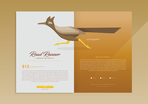 Roadrunner Web Page Template - Kostenloses vector #407045