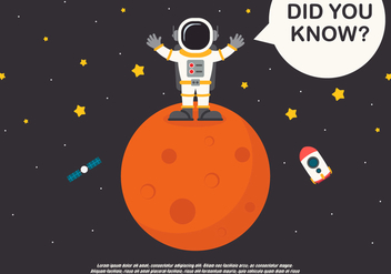 Trivia Spaceman and Spaceship Encyclopedia - vector gratuit #407075