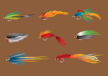 Fly Fishing Trout Free Vector - vector gratuit #407115