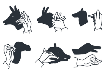 Shadow Puppet Vectors - Free vector #407155