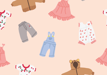 Baby Clothes Vectors - Free vector #407265