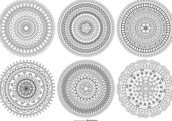Mandala Style Vector Shapes Collection - vector gratuit #407295