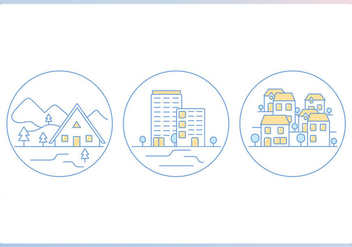 Home Outline Icons - vector #407405 gratis