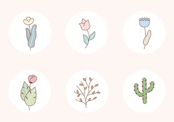 Plants Vector Icons - Free vector #407415