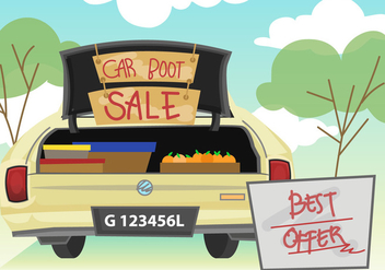Car Boot Sale Illustration - Free vector #407435
