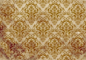 Old Grunge Damask Background - Kostenloses vector #407455