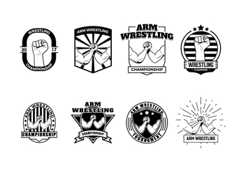 Free Wrestling Badge - Free vector #407465