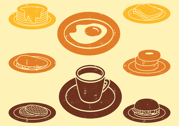 Breakfast Icons - vector #407505 gratis