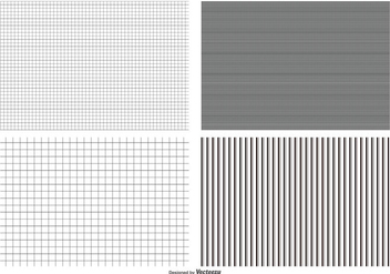 Seamless Grid Pattern Collection - vector gratuit #407515