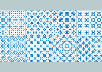 Free Azulejo Pattern Vector - Free vector #407545
